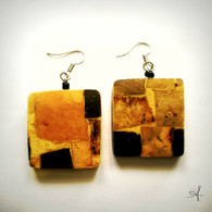 Mosaic Square Earrings