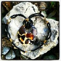 Mosaic Circle Beaded Necklace