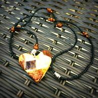 Mosaic Heart Beaded Necklace