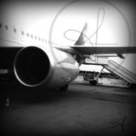 Frankfurt Airport Airplane BW