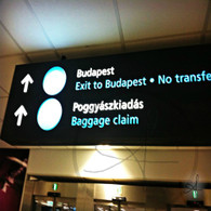 Budapest Airport Baggage Claim Sign