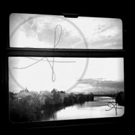 Sunset from Tram BW