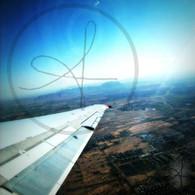 Airplane Wing over Arizona