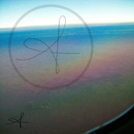 Sundown Rainbow from Plane