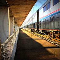 Amtrak Burlington Station Sunset
