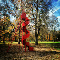 Red Slide in Autumn
