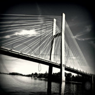 Burlington Great River Bridge BW