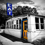 Maidrite Eat Sign and Door