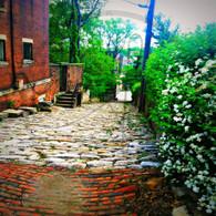 Cobblestone Alley Down 8x10