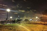 Sears Tower through Night Sprinklers  8x10