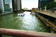 Chicago River Adams St Bridge 8x10