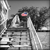 CBA Flag Stair View BW 8x10