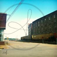 BNSF Train Rounding Tracks