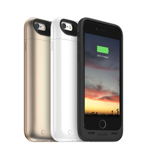 mophie Juice Pack Air iPhone 6/6s Rose Gold, Gold White & black -100% Extra battery & protection for iPhone 6/6s