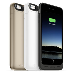 mophie Juice Pack Air iPhone 6 Plus - Black, White & Gold - 60% Extra Battery & Protection for iPhone 6/6s Plus