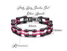 Pretty Dirty Girls Off Road Motorcyle Chain Bracelet.