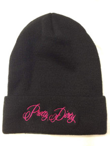 Pretty Dirty Black and Pink Beanie