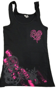 Black Pretty Dirty Racing Star Tank Top