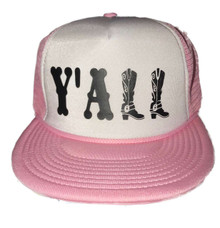 Y'ALL Country Trucker Style Flat Bill Snapback Hat