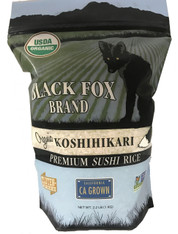 Black Fox Organic Premium White Koshihikari Rice (2.2 lb bag)