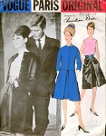 1960s CLASSY Vogue Paris Original 1205 DIOR Evening Cocktail Suit and Blouse Pattern Classy Audrey Hepburn Style Day or Party Bust 32 Vintage Sewing Pattern