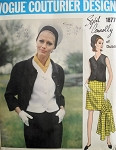 1960s  CLASSY 3 PC SUIT  PATTERN SYBIL CONNOLLY VOGUE COUTURIER DESIGN  1877
