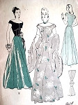 1940s Stunning Evening Gown Pattern Butterick 4268 Portrait Off Shoulders Neckline Basque Bodice Graceful Flared Four Gore Skirt  Bust  30 Vintage Sewing Pattern Quick n Easy FACTORY FOLDED