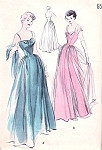 1950s Dreamy Evening Gown Pattern BOUFFANT, FITTED BODICE Pure Flattery Butterick 5040 Vintage Sewing Pattern Bust 30