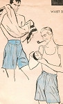 1940s GENTLEMENS  BOXER SHORTS PATTERN  2 STYLES  YOKE TOP SHORTS ADVANCE 4439