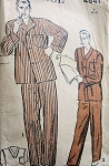 1940s MENS  PAJAMAS PATTERN 2 STYLES ADVANCE 4641