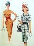 1960s SLIM DRESS SHORTIE JACKET PATTERN MAD MEN 60s FASHION McCALLS 6269