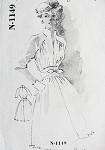 1950s RARE Charles LeMaire SPADEA  AMERICAN DESIGNER 1149 Vintage Sewing Pattern Kate Hepburn Dress Bust 35
