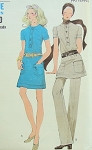 Mod Late 60s Miss Vogue 7764 Slim Mini Dress or Tunic and Pants Pattern UNCUT FACTORY FOLDED Bust 32
