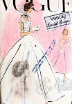 1950s BEAUTIFUL WEDDING DRESS BRIDAL GOWN , HOODED BOLERO JACKET PATTERN FLATTERING EMPIRE SURPLICE BODICE, LOVELY PRINCESS STYLE DRESS GREAT AS EVENING WEAR VOGUE SPECIAL DESIGN PATTERNS 4769 UNCUT Bust 31