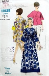 1960s VOGUE 6824 Easy To Make Beach Lounging Cover Up Pattern 3 Lengths A Line High Waist FACTORY FOLDED Small Size 10-12