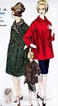 1960 Double Breasted Coat Jacket 2 Lengths Vogue Pattern 5639  Mad Men Fall Fashion Bust 32 UNCUT