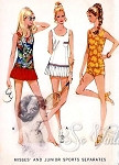 1970s Sports Separates Pattern Bathing Suit or Tennis Dress McCalls 2420 Vintage Sewing Pattern UNCUT Bust 38