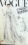 1950s Gorgeous Wedding Gown Bridal Dress and Veil Pattern Slightly flared Skirt, Breath taking Empire Bodice, Lovely Flowing Circular Train Vogue Special Design  4726 Vintage Sewing Pattern UNCUT Bust 32