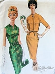 1960s Elegant Cocktail Dinner Sheath Dress and Jacket Pattern Mad Men Style McCalls 6086 Vintage Sewing Pattern Bust 33