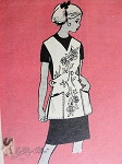 1960s Pretty Apron Pattern Anne Adams 4655 Vintage Sewing Pattern Medium  Size  Bust 34-36 FACTORY FOLDED