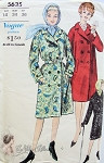1960s Classic Trench Coat and Raincoat Pattern Stylish Double Breasted Wear Loose or Belted Vogue 5635 Vintage Sewing Pattern UNCUT Bust 32