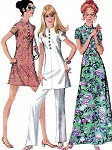 McCalls 2371 Vintage 70s Sewing PatternLovely Asian Inspired Mod Nehru Collar Tunic Top, Mini Dress, Hawaiian Hostess Maxi Gown UNCUT  Several Sizes Available
