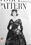 1950s Flattering V Neckline Evening Cocktail Dress Pattern Front Inverted Pleat Full Skirt Vogue 9452 Vintage Sewing Pattern Bust 34 FACTORY FOLDED