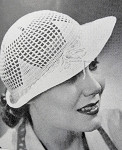 1930s Art Deco Flirty Crocheted Brimmed Lacey Hat INSTANT PDF PATTERN Vintage Crochet Pattern Knitting Pattern