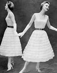 INSTANT PDF PATTERN 1950s Vintage Crochet Pattern  Beautiful Lacy Dress Parisien Lace Suitable As Wedding Dress
