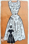 1950s BEAUTIFUL Dress Pattern MARIAN MARTIN 9085 Perfect Party or Summer Dress 2 Styles Bust  32 Vintage Sewing Pattern