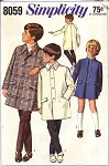 1960s Little Boys Coats Pattern Simplicity 8059 Vintage Sewing Pattern Cute Styles for Boys UNCUT FACTORY FOLDED Size 10