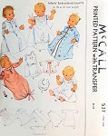 1930s Sweet Baby Layette Pattern Very Cute Infants Embroidered Layette, Pintuck Gowns Robes Baby Bib etc McCall 537 Vintage Sewing Pattern