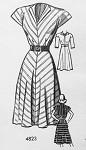 1940s Dress Pattern Easy To Make 40s WW II Era Dress Anne Adams 4823 Vintage Sewing Pattern Bust 30 FACTORY FOLDED