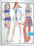 1970s Beach Wear Pattern McCalls 2363 Vintage Sewing Pattern American Hustle Bond Girl 2 Pc Swim Suit , Bathingsuit Cover Up Shirt, Pants with Sash Bust 38 UNCUT FACTORY FOLDED